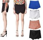 Celebrity Style Origami Asymmetrical Hem Skirt Tiered Culottes Invisible Skorts