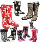 Ladies Wellington Boots Wellingtons Fun Prints Wellies All Sizes 3-8