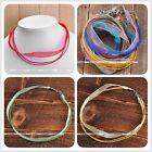 1pc Womens Collar Silk Ribbon Layer Choker Statement Necklace Candy Color Gift