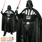 Deluxe Darth Vader Men's Fancy Dress Star Wars Halloween Costume Outfit + Mask