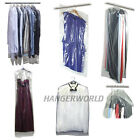 "CLEAR POLYTHENE GARMENT CLOTHES COVER PROTECTOR BAGS 38"" 60"" or 72"" HANGERWORLD"