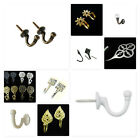 Curtain tassel HOOKS Sewing fabric Designer brass tie back hook wall coat cleat