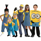 New Official Kids Despicable Me Costume Minion Fancy Dress Girls Boys Book Week