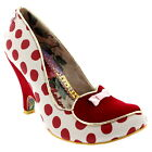 Womens Irregular Choice Dotty Love Party Leather Polka Dot Evening Heel UK 3.5-9