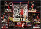 MICHAEL JORDAN CHICAGO BULLS SIGNED NBA MATTED 9 PHOTOS PHOTOGRAPH
