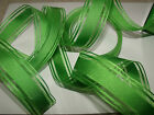 Bright Juicy Apple Green Satin & Organza Weddings - Luxury Wire Edged Ribbon