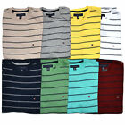Tommy Hilfiger Mens T-Shirt Crew Neck Striped T Shirt Short Sleeve Tee Nwt V004