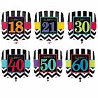 "CELEBRATE Age 18"" SQUARE FOIL BALLOONS {Amscan} (Birthday/Party/Chevron)"