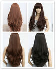 Two Colors Women Ladies Long Curly Wigs Full Wavy Curly Wigs Cosplay Accessories
