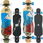 Komplett Longboard Long Island Cruiser Drop Through Skateboard Komplettboard NEU