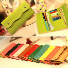 Ladies Faux Leather Bifold Card Holder Clutch Bag Wallets Small Mobile Purse