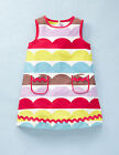 Mini Boden Girl's Brand New Funky Print Dress Multicolour Stripe Cotton Summer