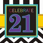 CELEBRATE 16 x LUNCHEON NAPKINS {Amscan} (Birthday/Party/Chevron)