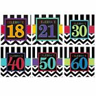 CELEBRATE Age 16 LUNCHEON NAPKINS {Amscan} (Birthday/Party/Chevron)