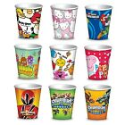 8 CHARACTER PAPER CUPS (266ml) - Large Range {Gemma}(Kids/Birthday/Party)