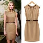 Womens Summer Casual Chiffon Sleeveless Office Cocktail Evening Party Mini Dress