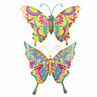Large Tropical Garden Butterfly Metal Wall Art Feature - Two Designs Available