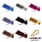 10 x Sheer Organza Wine Bottle Gift Bags Weddings Holidays Parties +Buckle