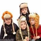 Childrens Animal Hat JIGLZ Winter Tiger Hat  Giraffe Monkey Hat  Kids Animal HAT