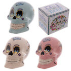 Candy Skull Ceramic Money Box Coin Bank Loose Change Saver Tip Box