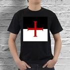 Knights Templar Freemason Flag Black Mens T-Shirt S,M,L,XL,2XL,3XL