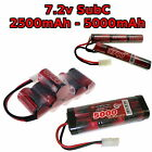7.2V 2500-5000mAh SubC Premium Racing RC battery pack with custom connector