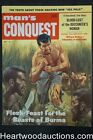 """Man's Conquest"" May 1957  Arlene Hunter, WWII, John Leone - Ultra High Grade- N"