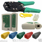 RJ45 Crimping Tool Cable Tester Cat 5e End Connector Cover Boots LAN Network Kit