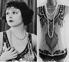 Black Grey White Great Gatsby Downton Flapper Art Deco 1920 1930 Top Tunic