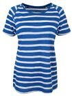 Loose Knit Raglan Royal and White Stripe Women's T-shirt