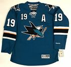 JOE THORNTON SAN JOSE SHARKS TEAL REEBOK NHL PREMIER JERSEY WITH A