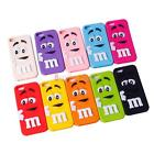 M Chocolate Candy Rubber Silicone Cartoon Phone Case Cover for iphone 5 5C 5S