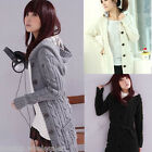 New Fashion Korean Women's Ladies Hoodie Coat Cardigan Warm Sweater Long Sleeve