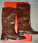 NEW COACH MYSIE LEATHER CALF RIDING Shoes Boots Chestnut Brown $348 A4233