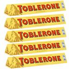 TOBLERONE 5 x 100g BARS - SWISS MILK CHOCOLATE WITH HONEY AND ALMOND NOUGAT
