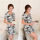 Retro Cute Summer Women Short Sleeve Sexy Party Club Cocktail Mini Bodycon Dress