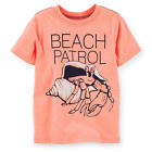 "Carter's Boys Orange ""Beach Patrol"" Hermit Crab Screen Printed T Shirt- Toddler"