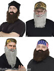 Duck Dynasty Beard & Hat Red Neck Crazy Quakers Instant Kit Jase Si Phil Willie