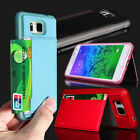 S-Ch Card Holder Stand Leather Fitted Case Skin For Samsung Galaxy Alpha G850F