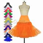 Underskirt Retro Swing Vintage Petticoat Fancy Roll Tutu Skirt Rockabilly 26""