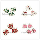 10/50pcs Newest Crafts Colorful Enamel Gold Plated Alloy Cloth Charms Pendant LC