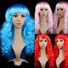 Womens Ladies Long Curly Wavy Hair Synthetic Anime Cosplay Party Full Wigs J46