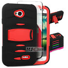 For HTC Desire SERIES Armor Hard Rubber w Q Stand Case Cover Colors