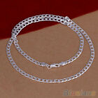 Korean Womens Mens Silver Plated 4MM Cute Pendant Necklace Chain Fashion Jewelry