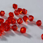 Fashion DIY jewelry 3mm/4mm Glass Crystal #5301 Bicone beads 100/1000pcs Red