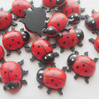 New 10/30/100pcs Red Ladyburg Wood Buttons Sewing Craft No Hole T0729