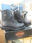 NEW Harley Davidson Mens Leather Boots Shoes Medium Black Jay