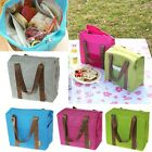 Insulated Tote Waterproof Lunch Bag Cool Cooler Thermal Picnic Food Drink Holder