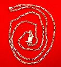 Beautiful .925 Sterling Silver Drawn Box Chain Necklace