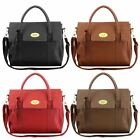 Ladies Womens Designer Faux Leather Shoulder Satchel School Handbag Bag